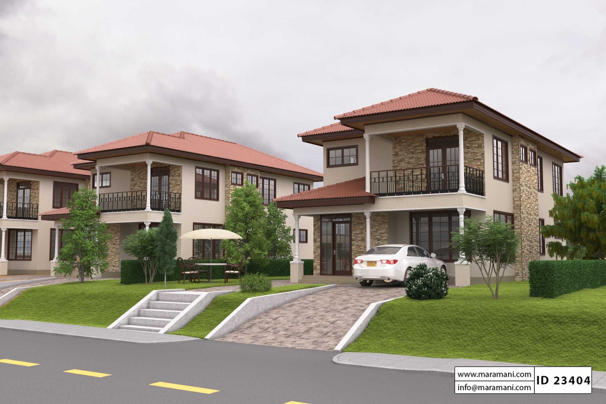 simple three bedroom house plan id 23404 floor plans by maramani - Three Bedroom House