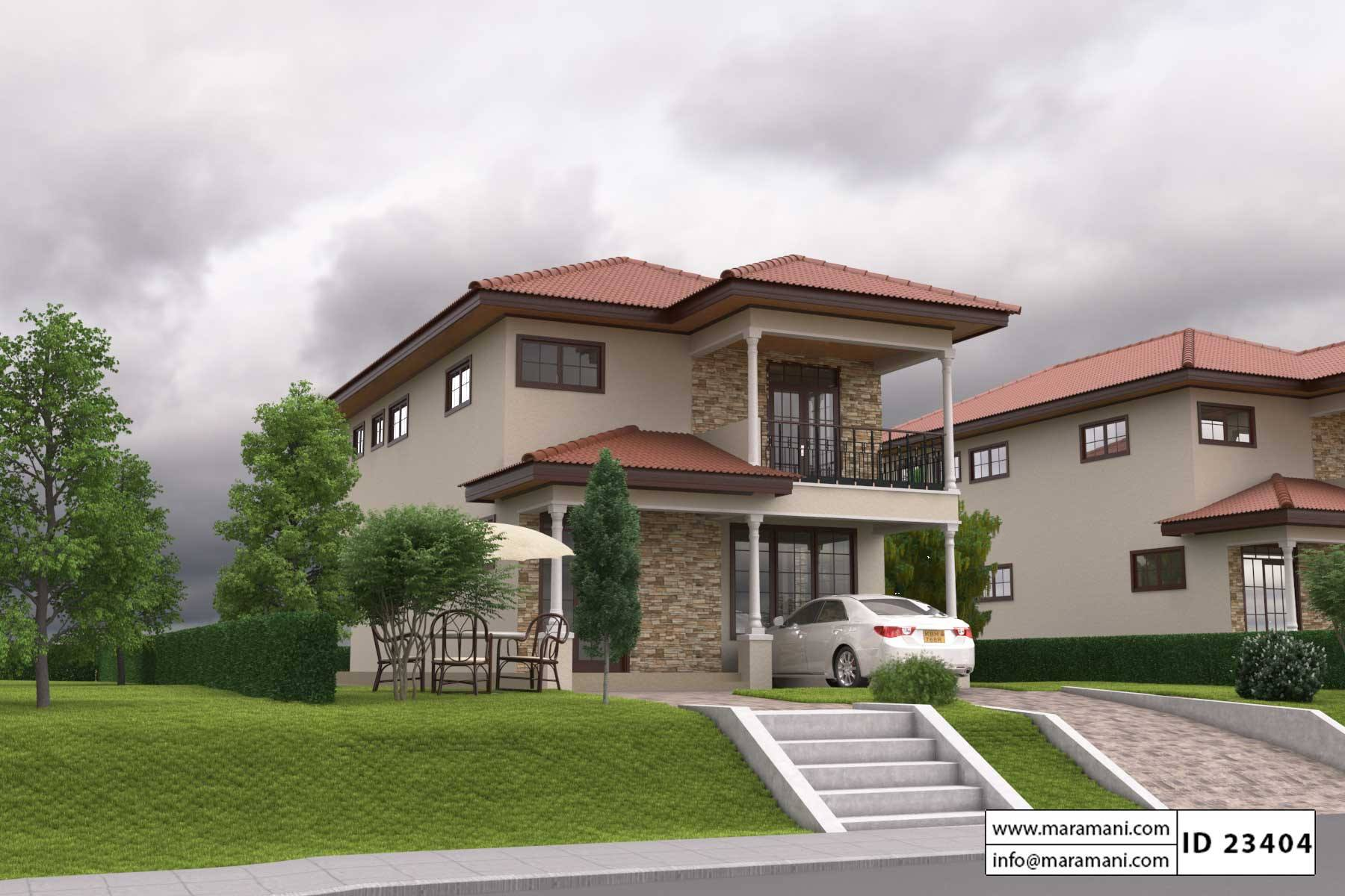 Simple Three Bedroom House Plan Id 23404 Floor Plans