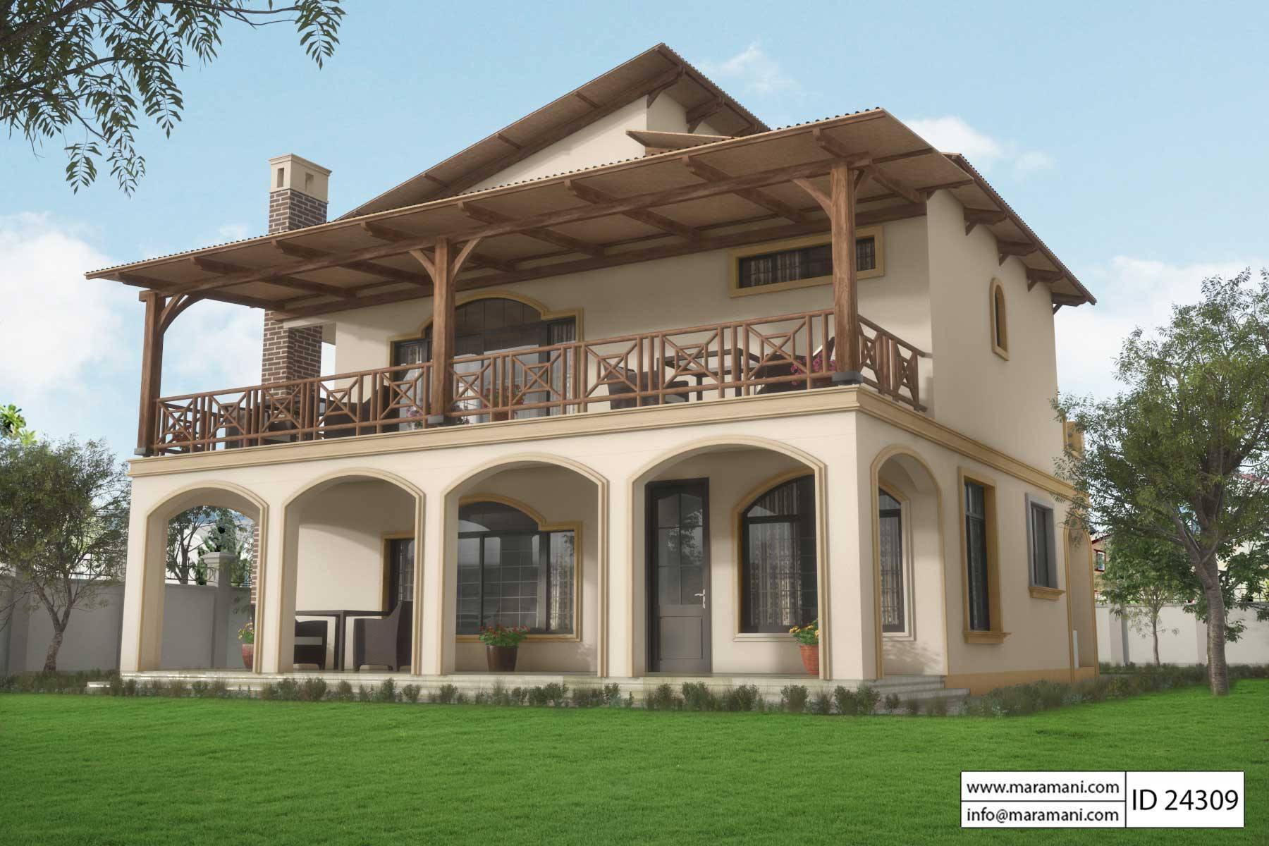 4 brs modern contemporary house plan id 24309 designs by maramani for 4 bedroom cabin plans