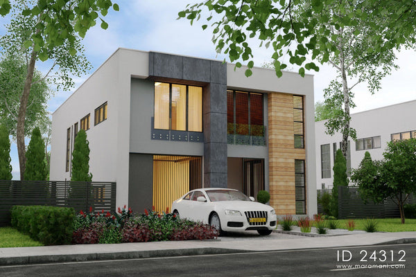 4 bedroom contemporary plan - ID 24312