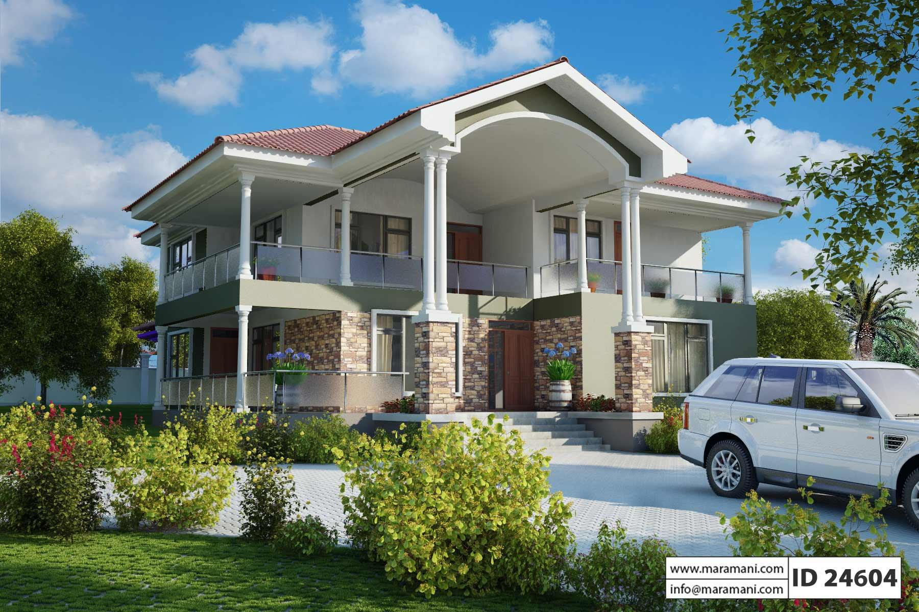 Four bedrooms house design id 24302 for Idaho house plans