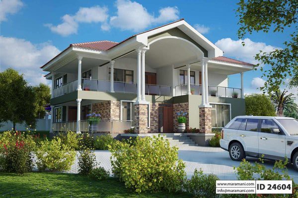4 Bedroom 2 story House Plan - ID 24604 - House Plans by Maramani