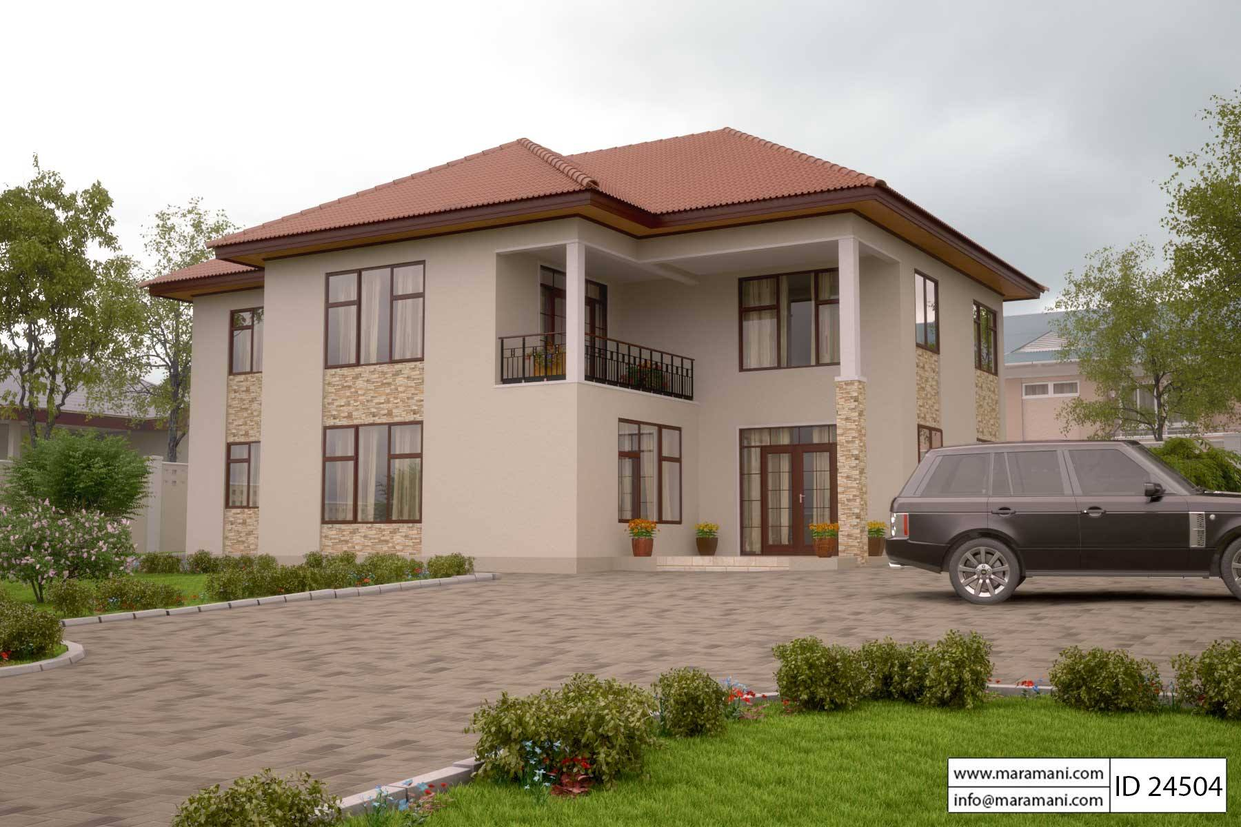2 story house plan with master bedroom on the first floor for Beautiful 5 bedroom house plans with pictures