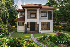 4 bedroom plan in tropical garden setting - ID 24510