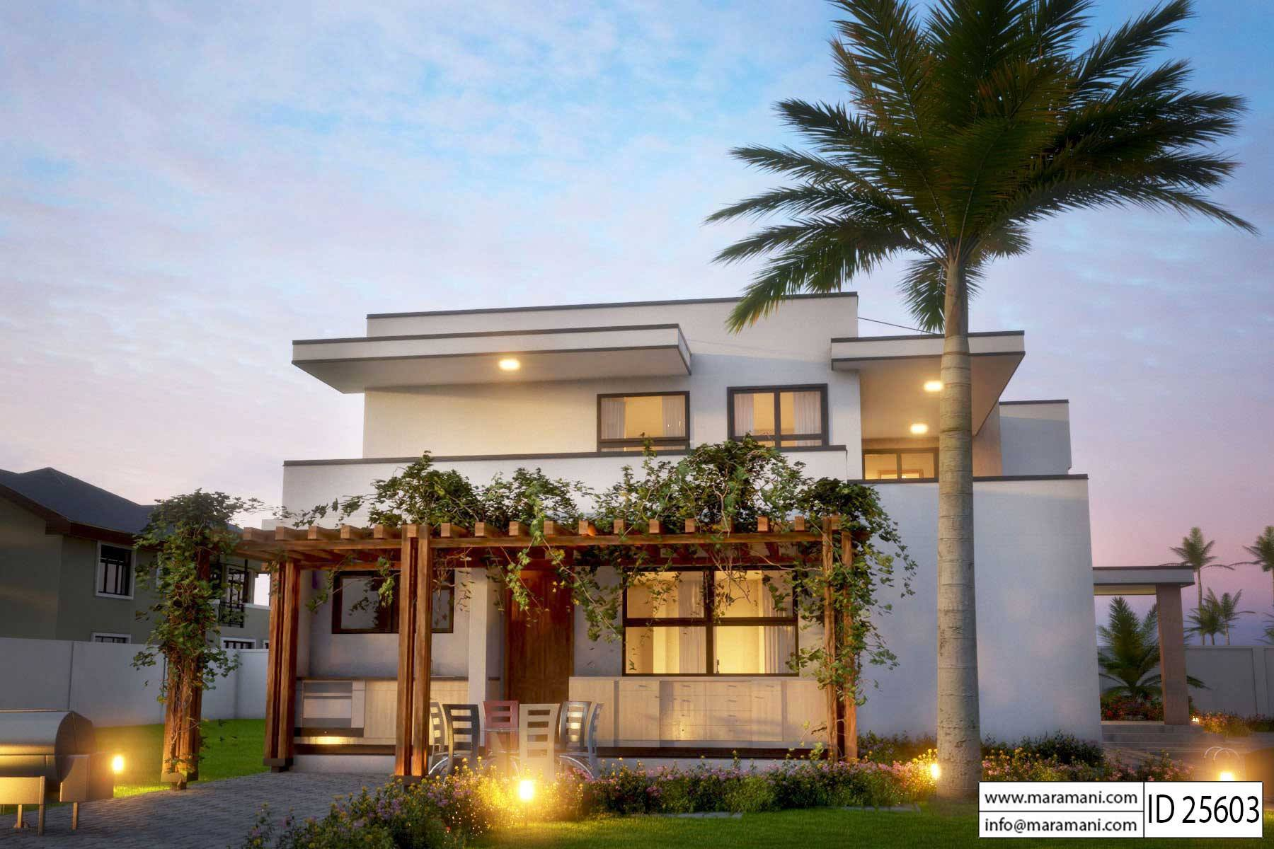 Modern 5 bedroom house design id 25603 floor plans by maramani