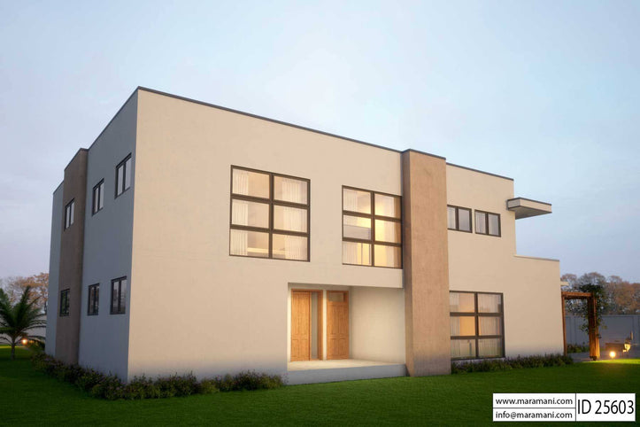 Modern 5 Bedroom House Design - ID 25603 - Floor Plans by Maramani