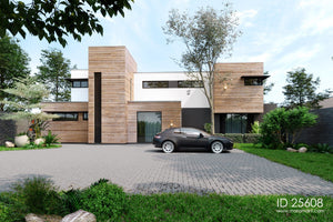 Timber clad 5 bedroom contemporary house - ID 25608