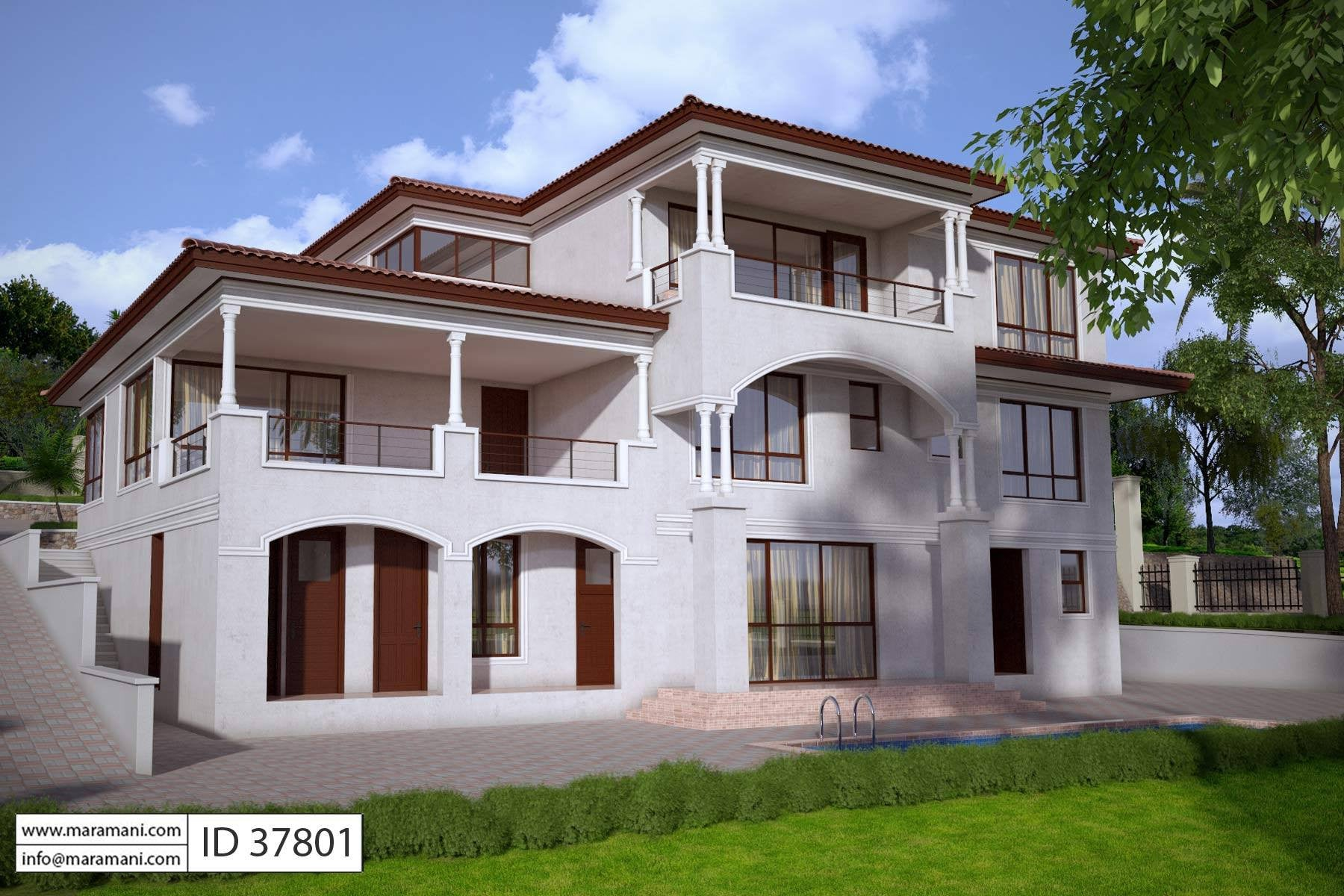 7 bedroom house 7 bedroom house design id 37801 house designs by maramani 10040