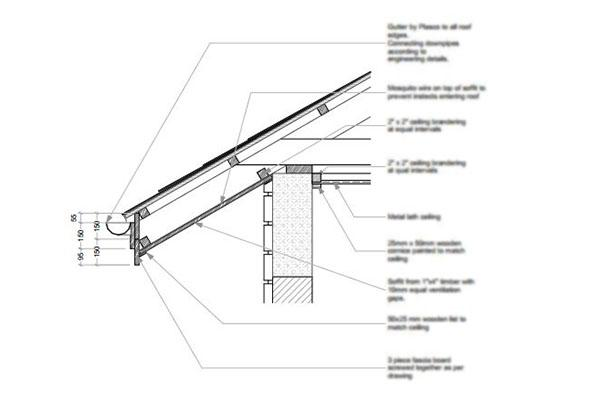 Free Roof Eave Detail Blueprint 2 - M.03.3