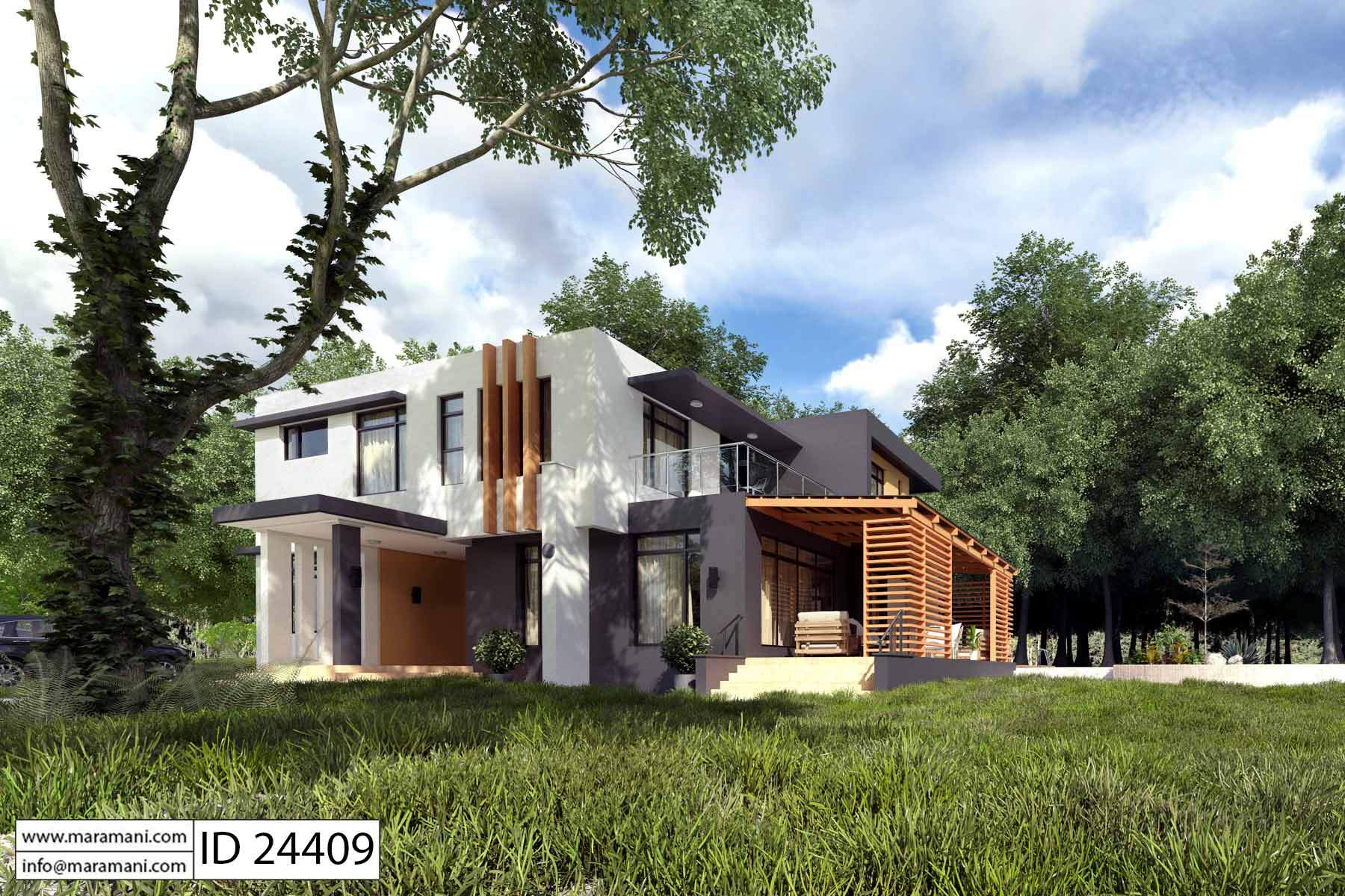 modern 4 bedroom house plan id 24409 designs by maramani 16216 | modern 4 bedroom house plan id 24409 2 v 1509445084