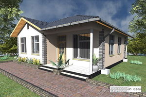 Superb 2 Bedroom House Plan   ID 12208 Good Looking