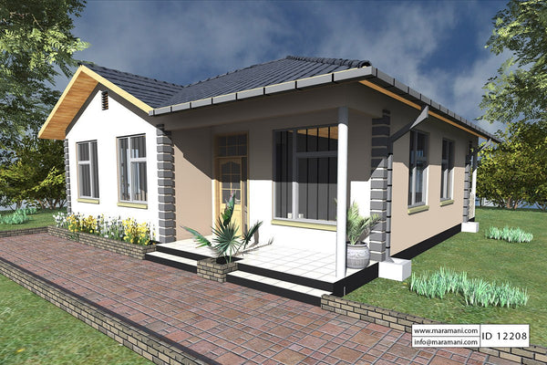 2 Bedrooms House Plan - ID 12208 - House Plans by Maramani