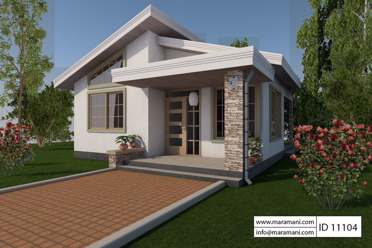 One bedroom house design id 11104 floor plans by maramani for 1 bedroom cottage plans