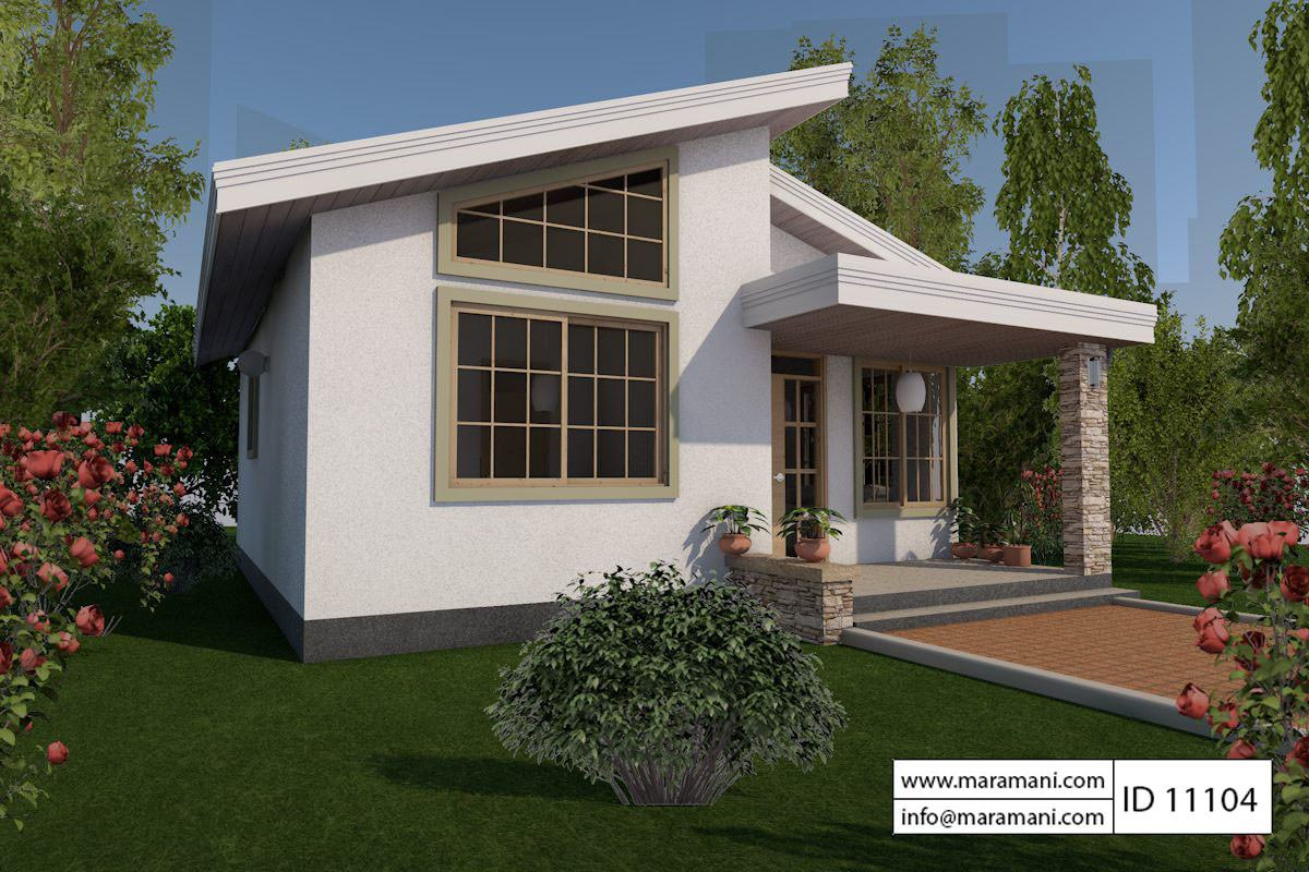 1 bedroom house plan id 11104 house designs by maramani for One bedroom house plans with photos