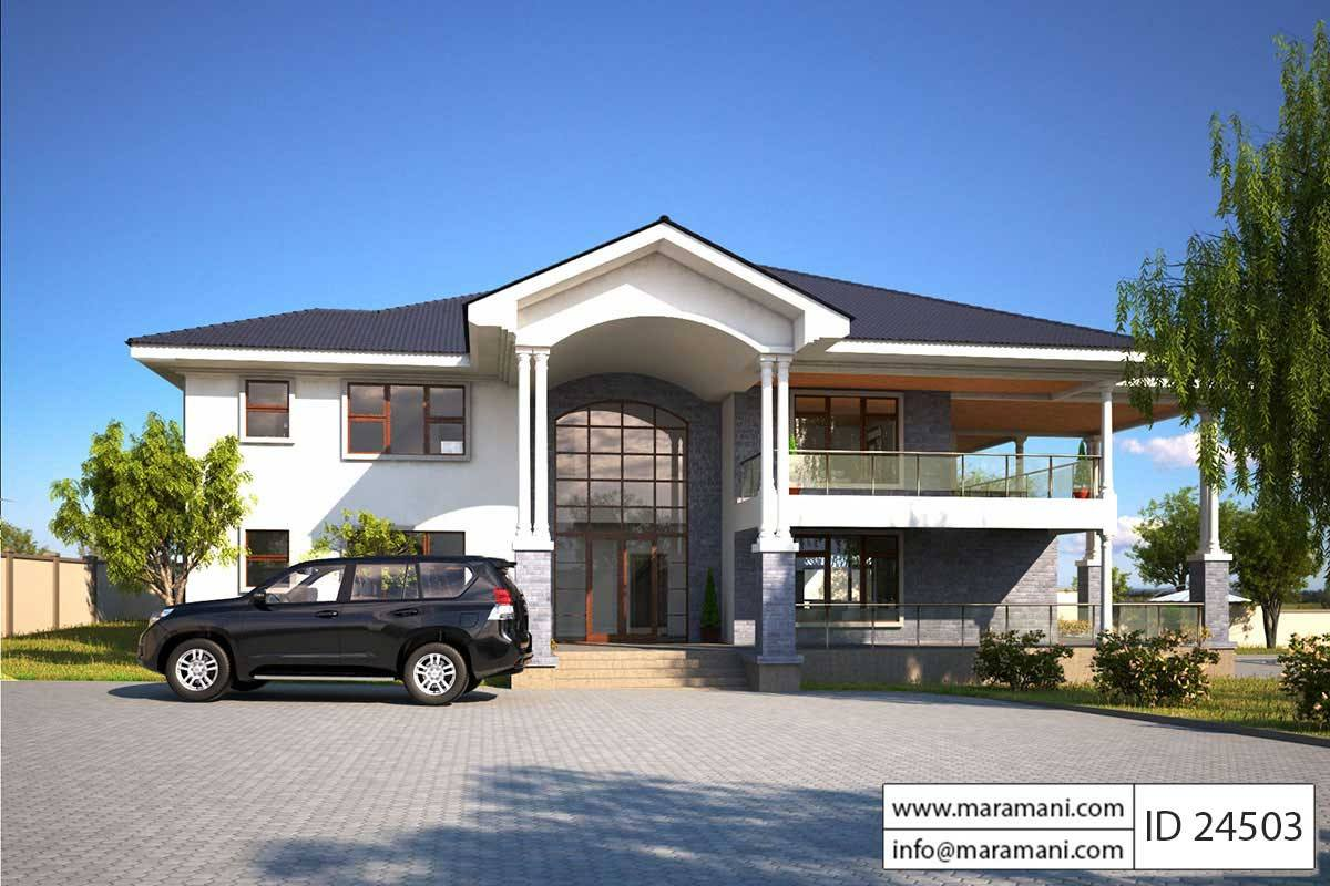 4 Bed Contemporary Villa Plan - ID 24503 - Villa Plans Maramani.com