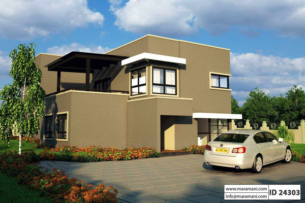 4 bedroom house design - ID 24303 - House Plans by Maramani
