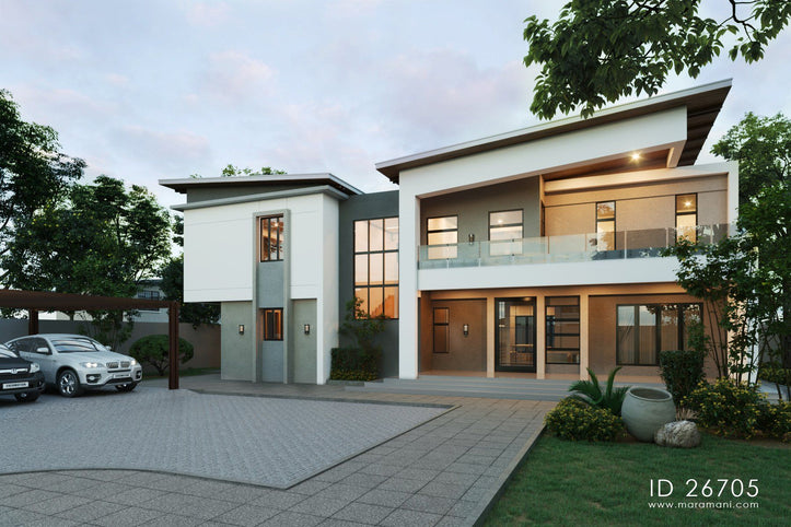 Contemporary Indian architecture 6 Bedroom house plan - ID 26705