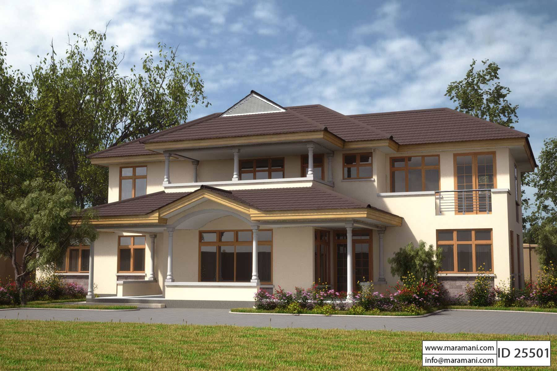 5 bedroom house plan with bonus room id 25501 plans by for Five bedroom house