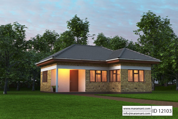 Small house plan 2 bedroom - ID 12103 - House Designs by Maramani