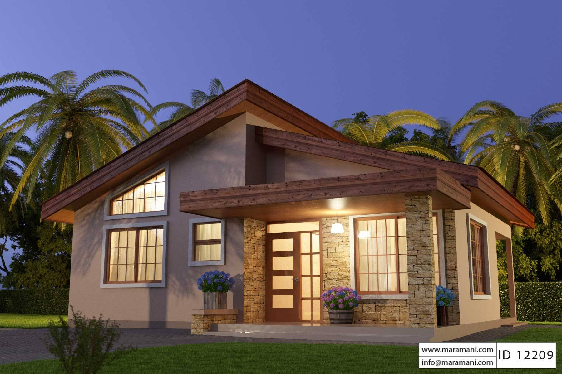 Unique small house plan id12209 floor plans by maramani for Small three bedroom house