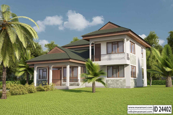 Four bedrooms villa design id 24402 house designs by for 4 bedroom villa designs