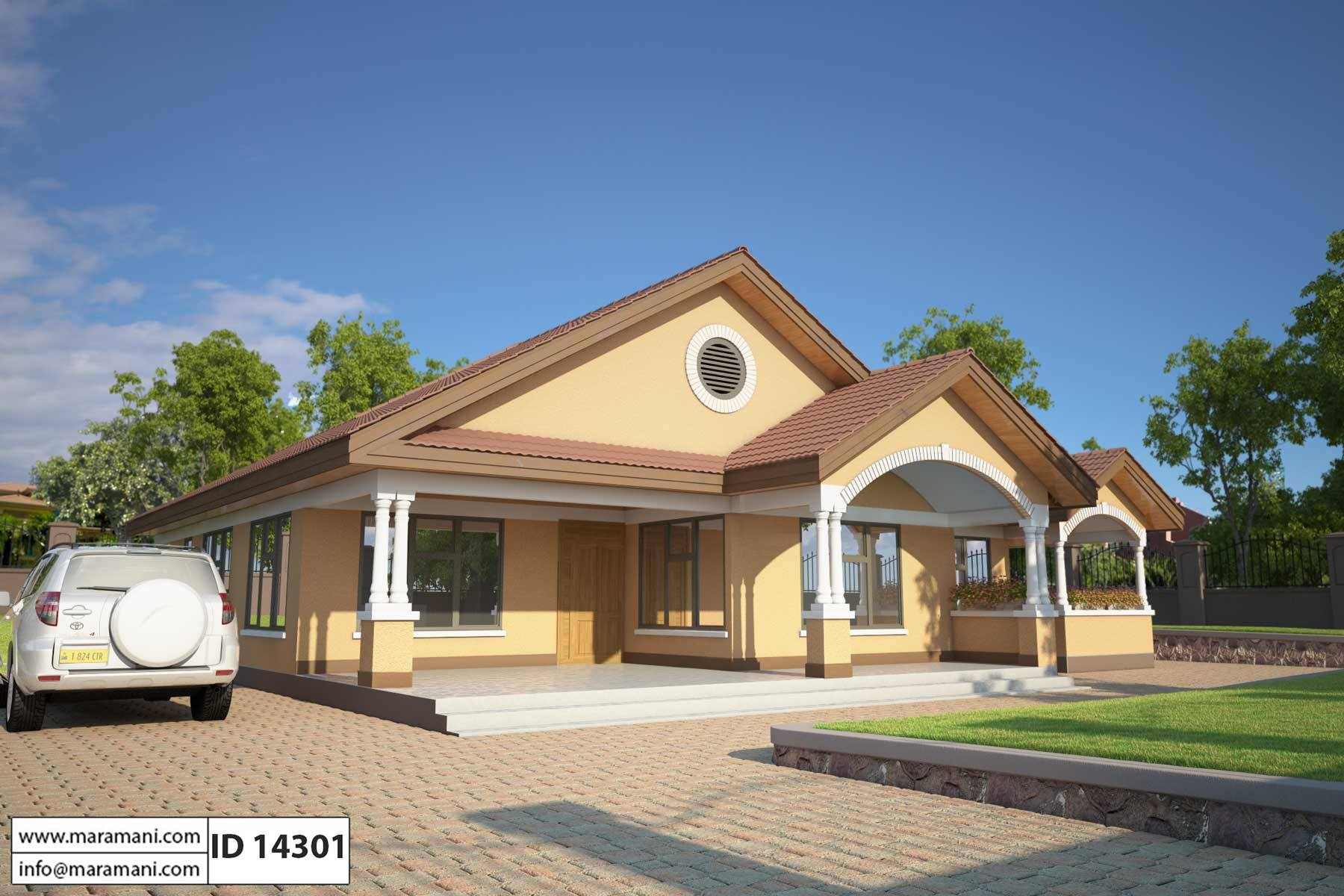 4 bedroom house plan id 14301 - Four Bedroom House Plans