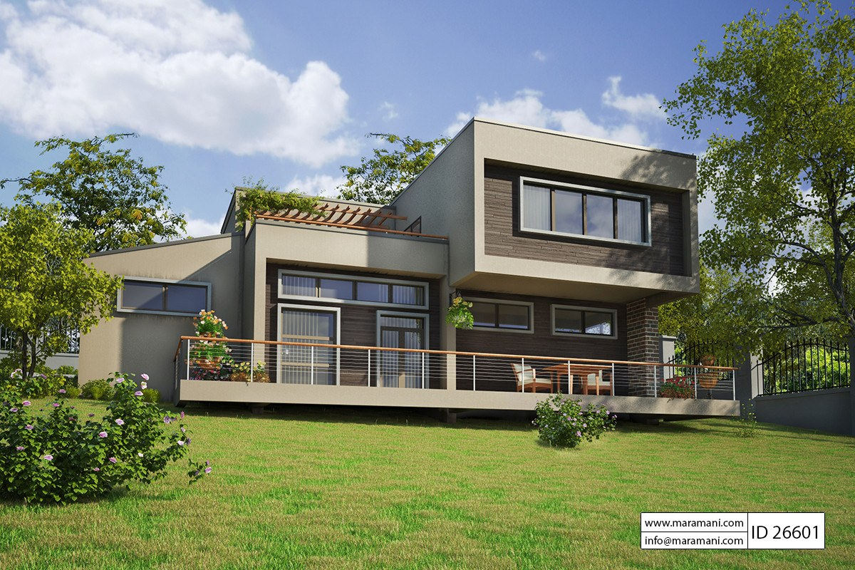 6 bedroom modern luxury house plan id 26601 house for House plans with 6 bedrooms