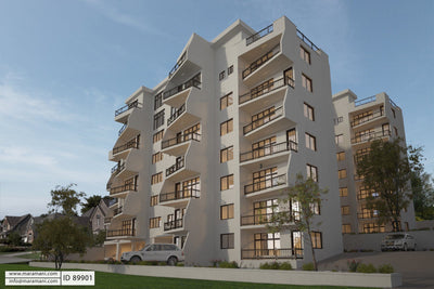 12 flat apartment block - ID 89901