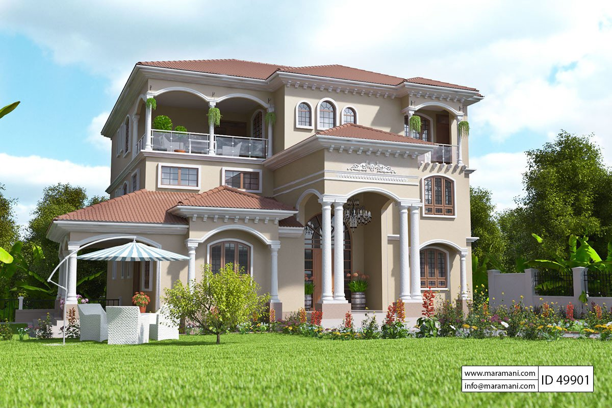 9 Bedroom House Design ID 49901 House Designs by Maramani