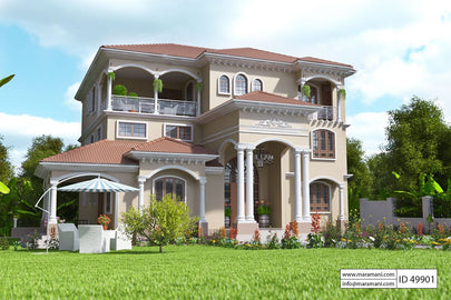 9 Bedroom House Design - ID 49901