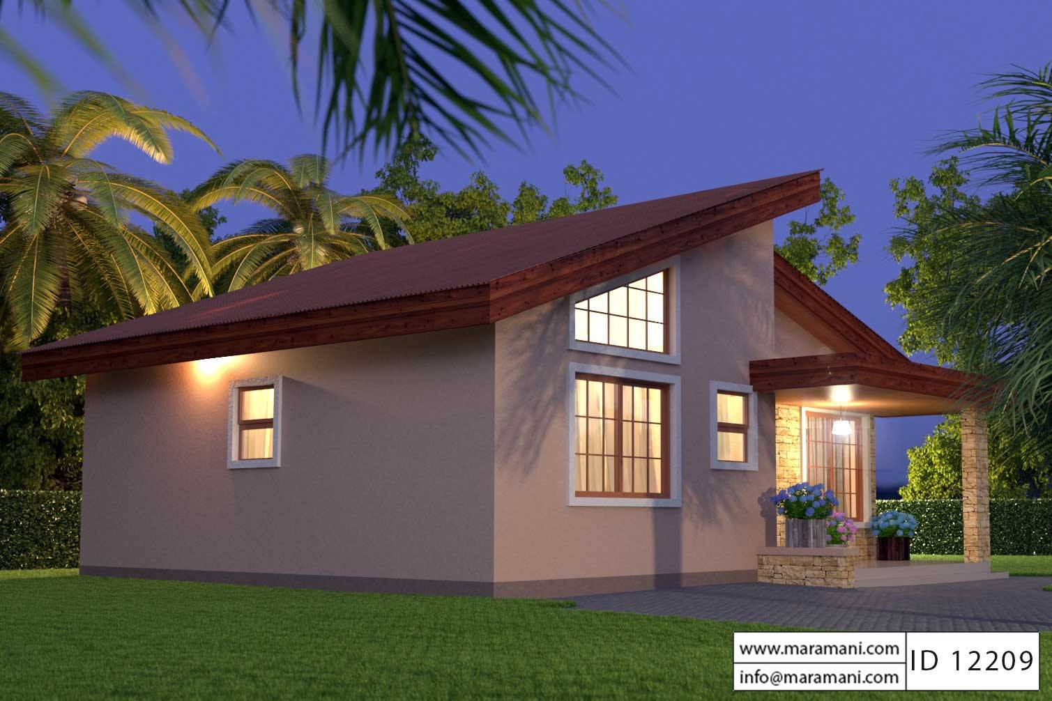 Two bedroom house id 12209 for Two bedroom home plans