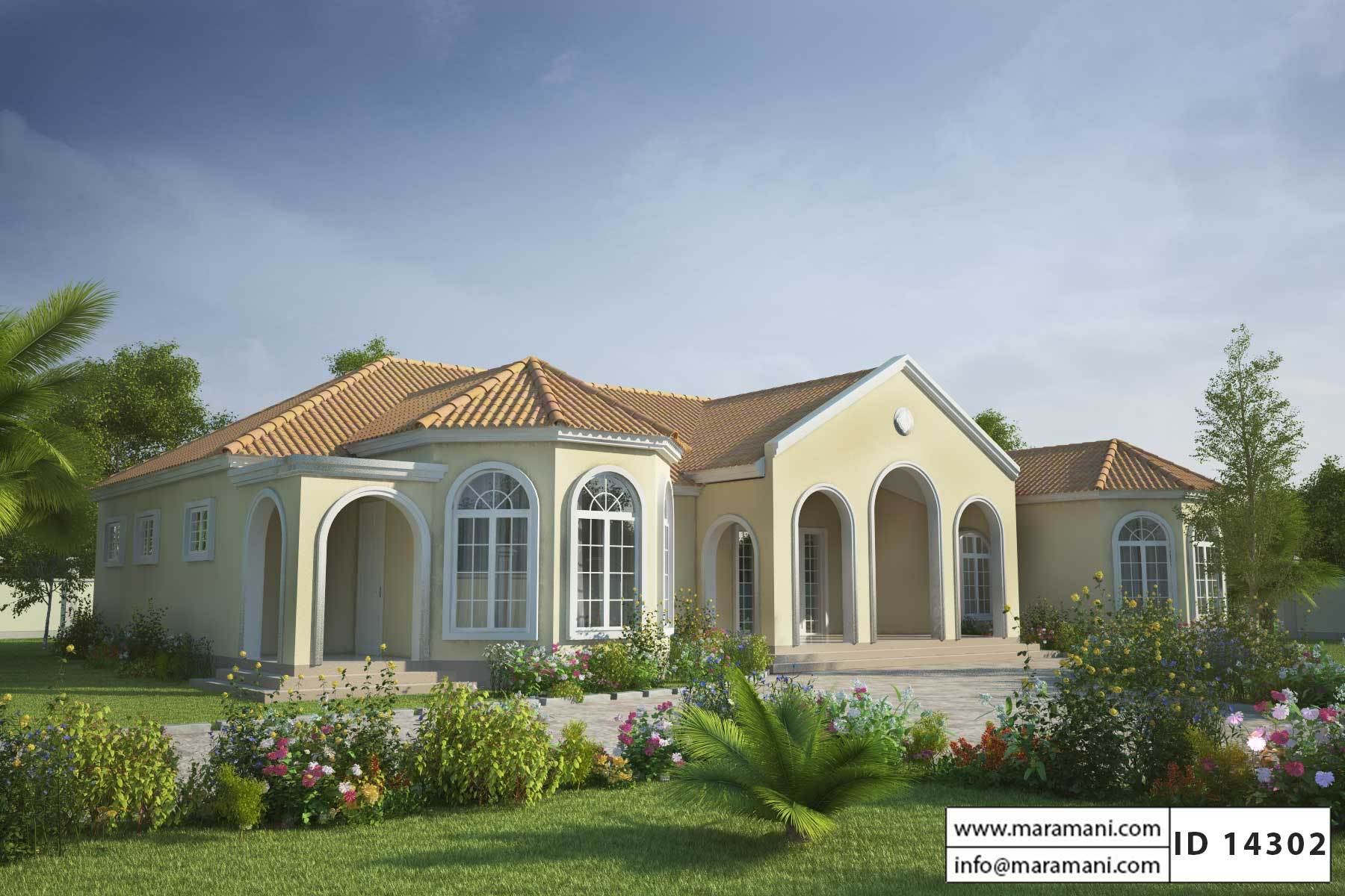 4 bedroom house plan id 14302 house plans by maramani 1 bedroom houses