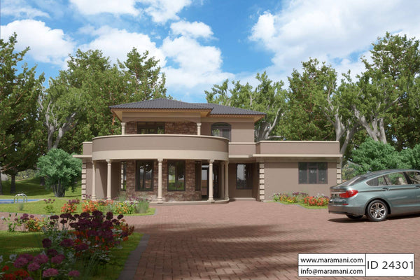 Contemporary 4 Bedroom House Plan - ID 24301 - Building Plans by Maramani
