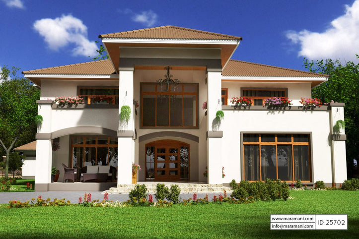 5 Bedroom Bungalow House Plan - 25702 - Floor Plans by Maramani