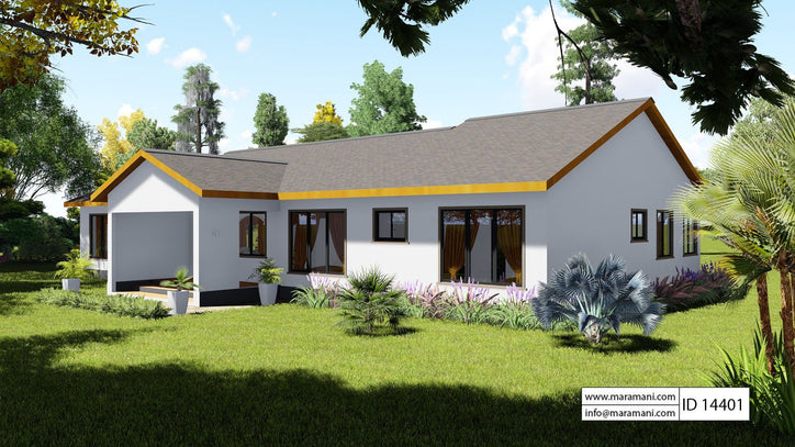 4 Bedroom countryside house - ID 14401 - House Plans by Maramani