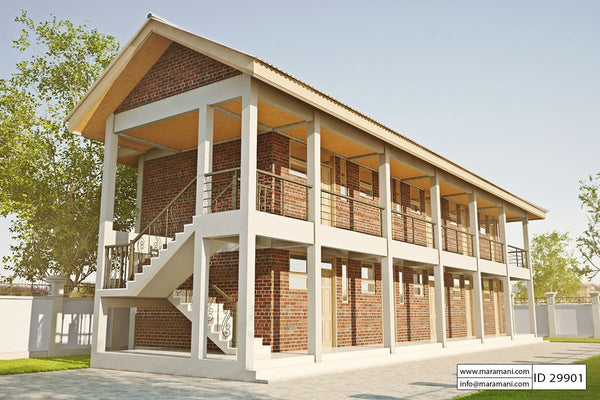 10 Bedroom Hostel Design - ID 29901 - House Plans by Maramani
