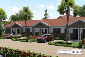 2 Bedroom Row House Plan - ID 12211