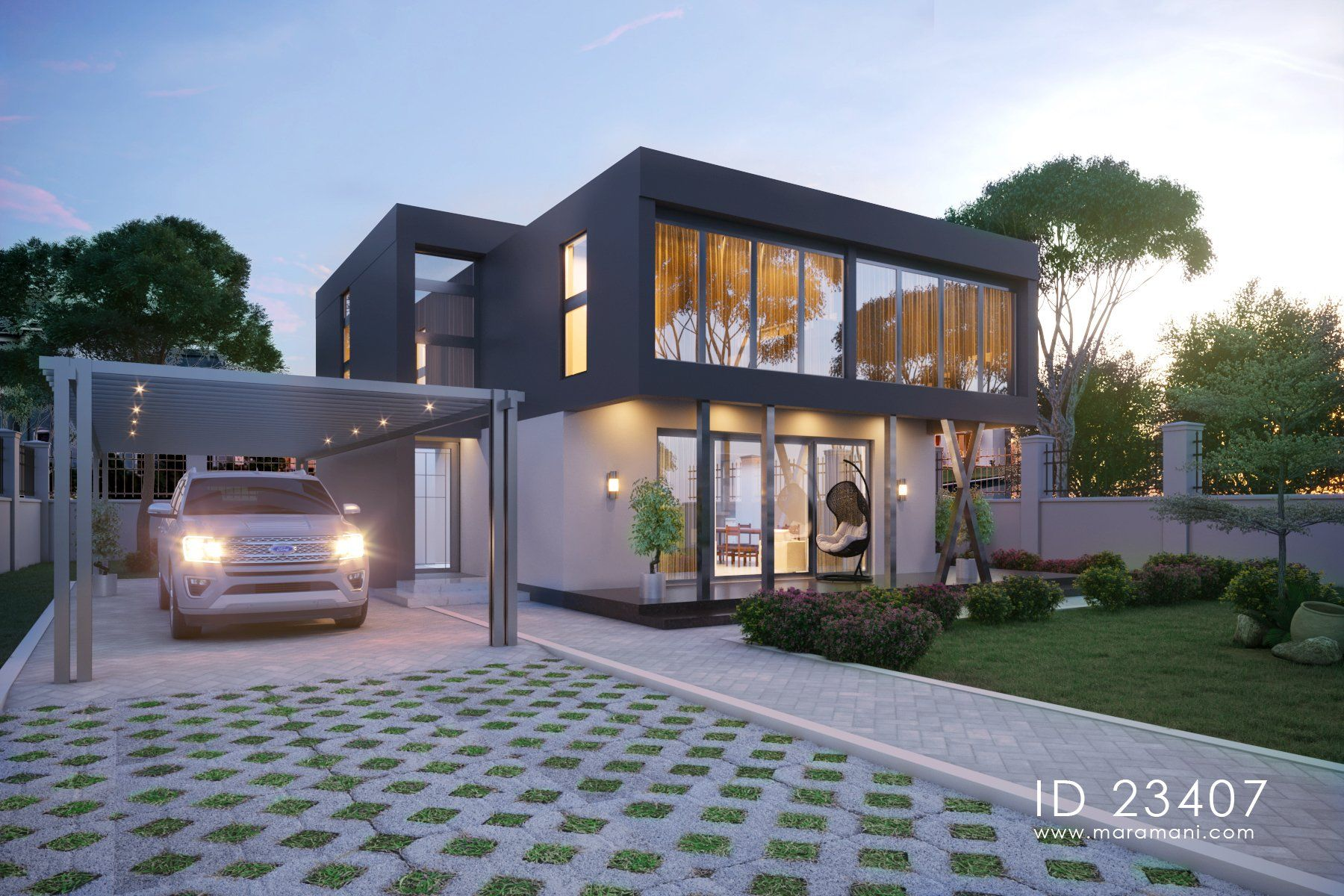 3 Bedroom Contemporary House Plan Id 23407 House Designs By Maramani