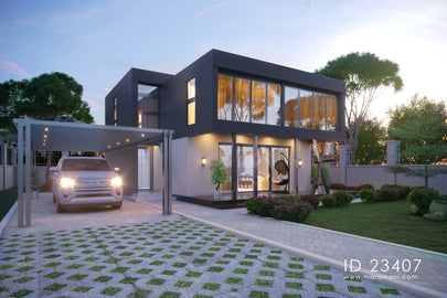 3 Bedroom Contemporary House Plan - ID 23407