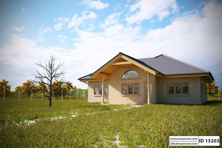 3 Bedroom 2 bath House Plan - ID 13203 - House Designs by Maramani