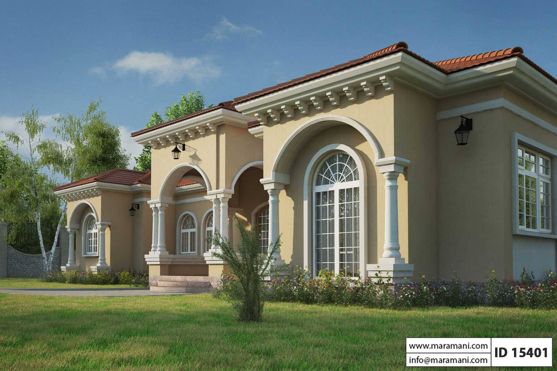 Mediterranean house plan id 15401 house designs by for Building a one room house