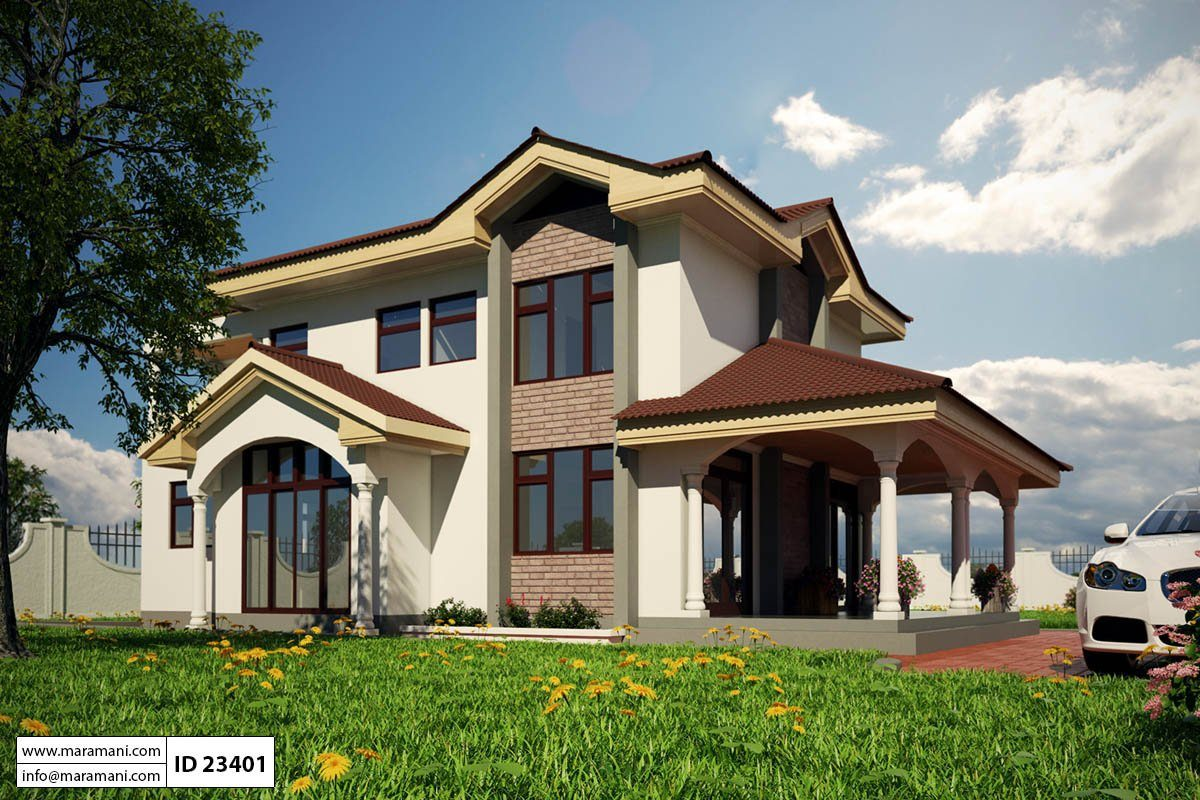3 bedroom house plan id 23401 for Ghana house plan