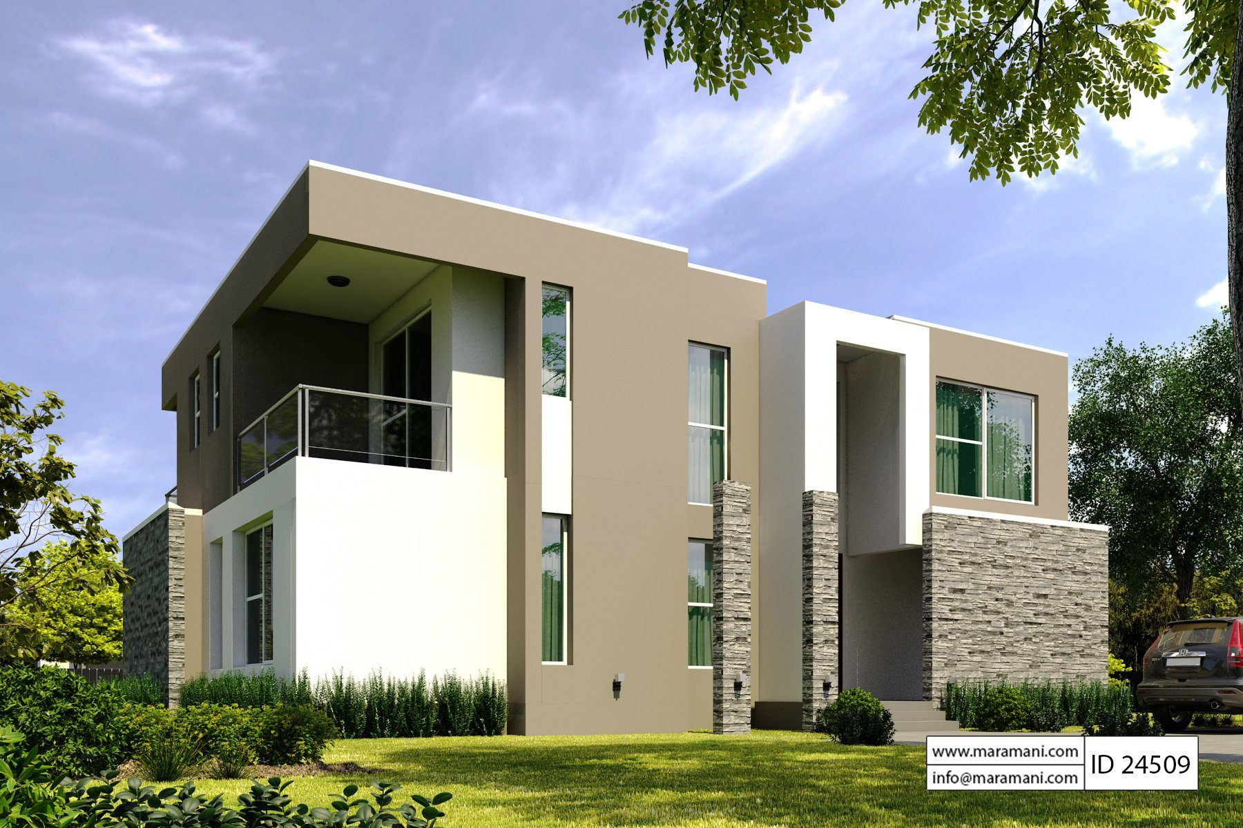 4 bedroom modern house plan - ID 24509 - House Plans by ...