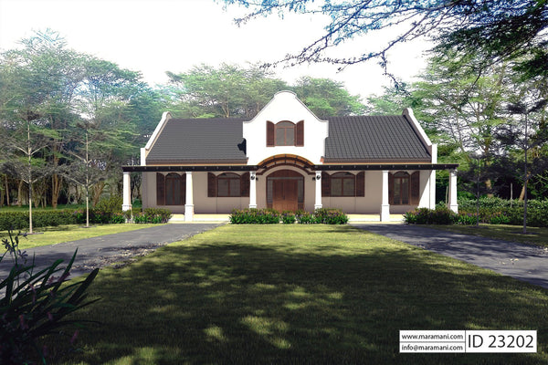 Cape Dutch 3 bedroom house plan
