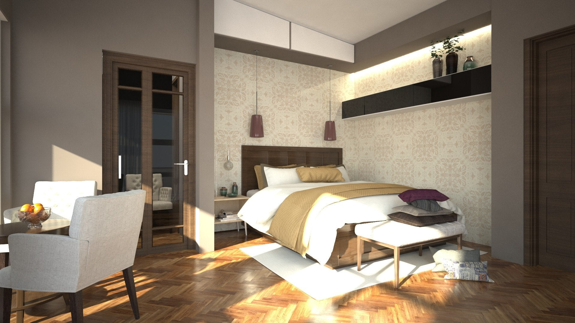 House design bedroom - Modern 5 Bedroom House Design Id 25603 Floor Plans By Maramani