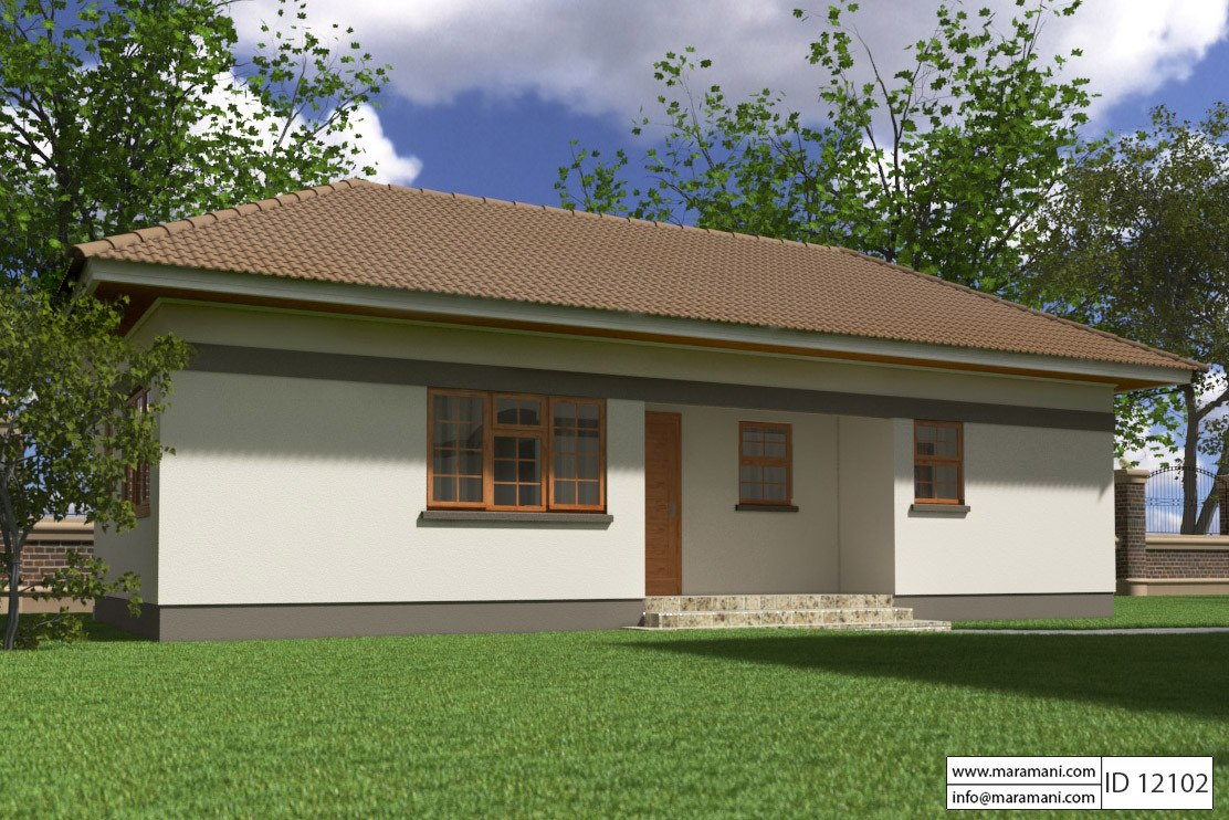 Small 2 bedroom house plan id 12102 house plans by for Two bedroom house