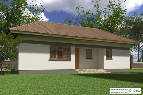2 bedroom house plan id 12102 house designs by maramani 10015 | perspective 1 8c952fe1 b6e7 403a a7af 2ebc1861f3ee large v 1484379019
