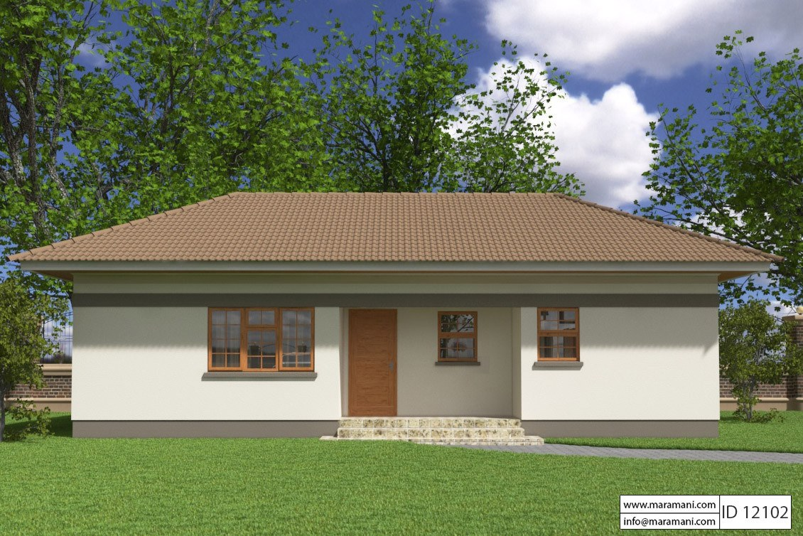 Small 2 Bedroom House Plan - ID 12102 - House Plans by Maramani