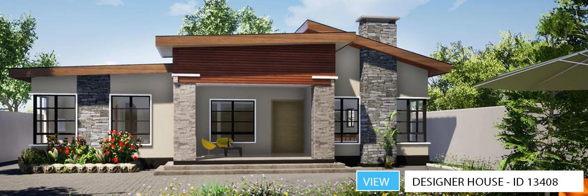 3 Bedroom Bungalow Plan - ID 13403 - House Plans by Maramani