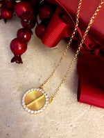 Sparkle Akan Pendant Necklace Large